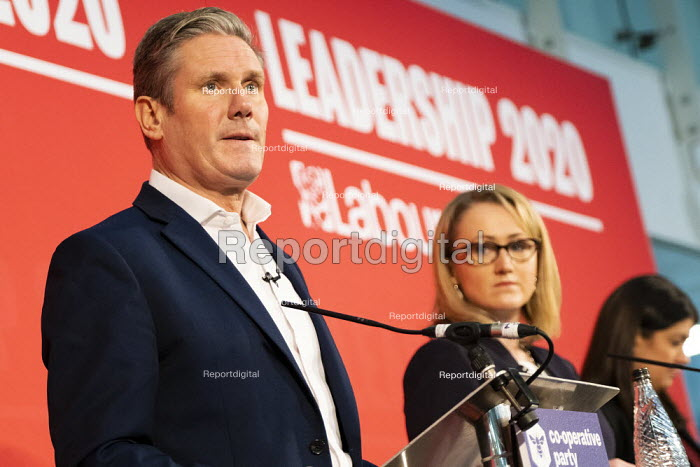 Keir Starmer speaking Labour Leadership Hustings, hosted by Co-coperative Party, Business Design Centre, North London. - Jess Hurd - 2020-02-16