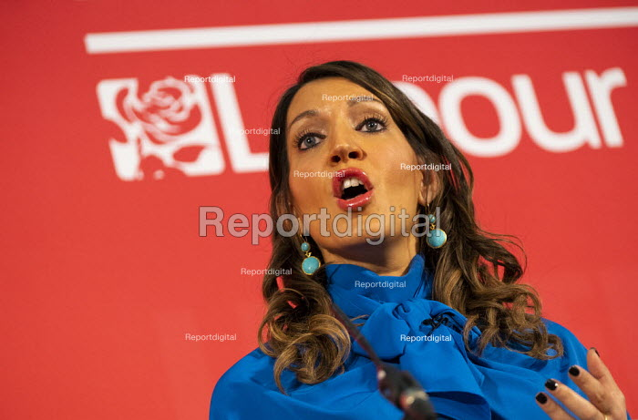 Dr Rosena Allin Khan speaking Labour Deputy Leadership Hustings, hosted by Co-coperative Party, Business Design Centre, North London. - Jess Hurd - 2020-02-16
