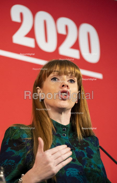 Angela Rayner speaking Labour Deputy Leadership Hustings, hosted by Co-coperative Party, Business Design Centre, North London. - Jess Hurd - 2020-02-16