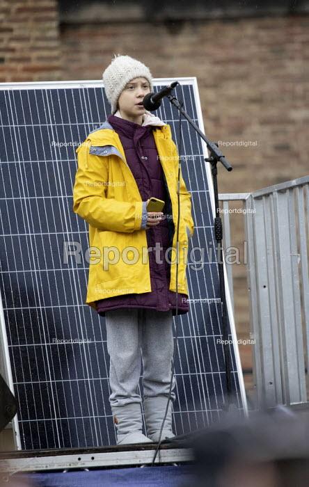 Greta Thunberg speaking, Bristol Youth Strike 4 Climate protest - Paul Box - 2020-02-28