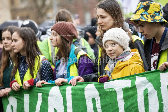 Greta Thunberg leading Bristol Youth Strike 4 Climate protest - Paul Box - 2020-02-28