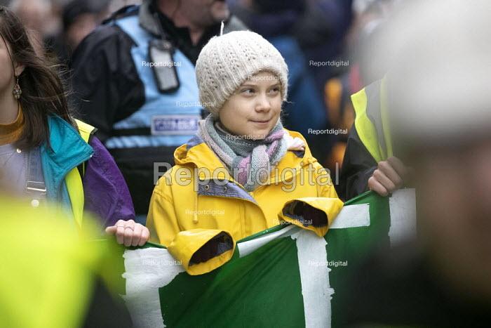 Greta Thunberg leading Bristol Youth Strike 4 Climate protest - Paul Box - 2020-02-28