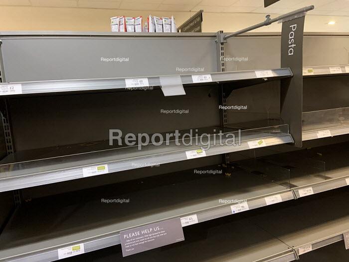 Empty shelves after panic buying, Waitrose, Canary Wharf, London - Jess Hurd - 2020-02-16