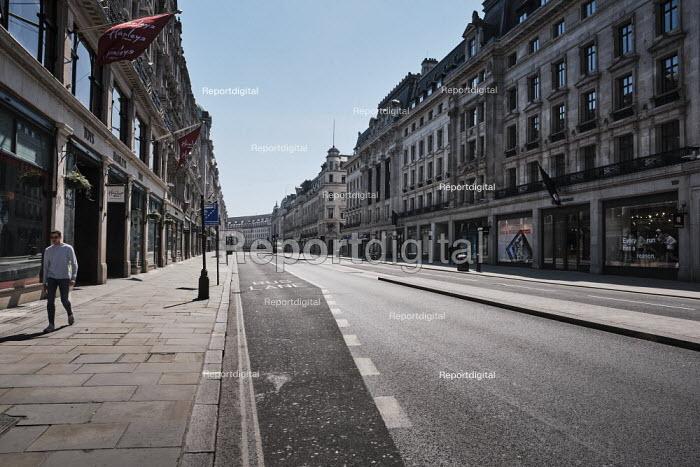 Coronavirus Pandemic. Empty Streets and closed shops, Regent Street, London - Duncan Phillips - 2020-04-22