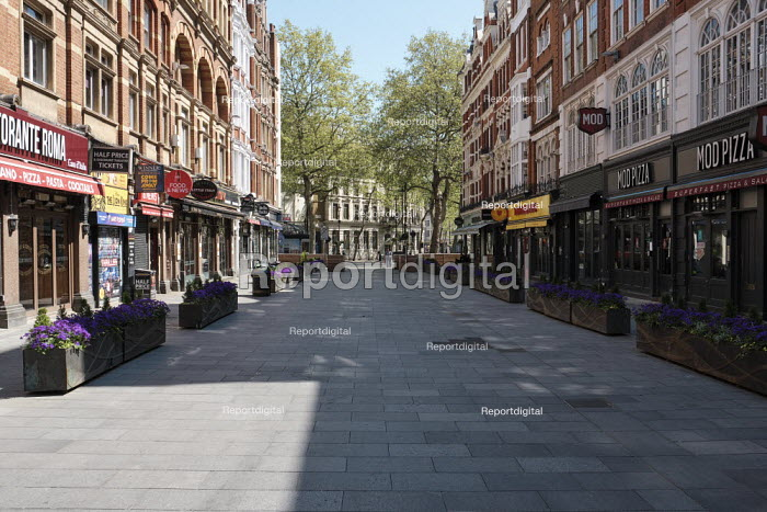 Coronavirus Pandemic. Empty Streets and closed shops, Leicester Square, London - Duncan Phillips - 2020-04-22