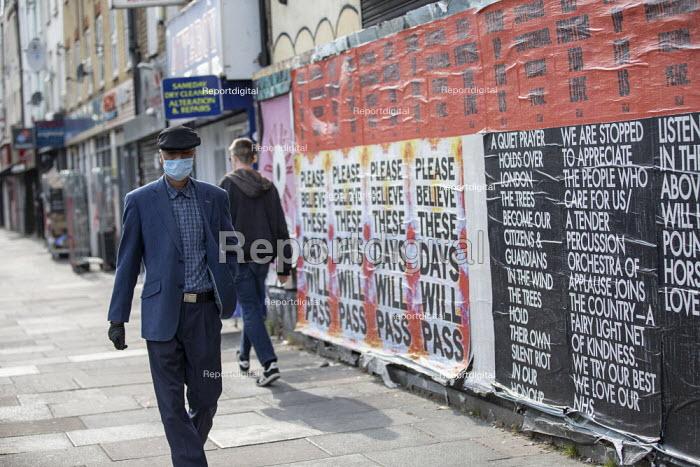 Coronavirus Pandemic. Please Believe These Days Will Pass poster, Shoreditch, East London - Jess Hurd - 2020-05-07