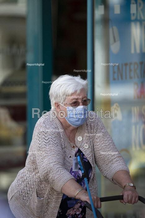 Mask up Friday, Shoppers wearing masks in the street, Stratford Upon Avon - John Harris - 2020-07-24