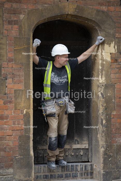 Construction worker, RST new Costume Workshop, Stratford Upon Avon - John Harris - 2020-07-29