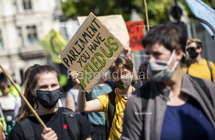Extinction Rebellion, Unfuck the system protest, Parliament Square, London - Jess Hurd - 2020-09-01