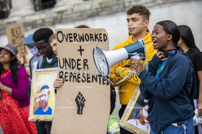 Black Lives Matter culture protest, National Gallery, Trafalgar Square, Westminster, London - Jess Hurd - 2020-09-05