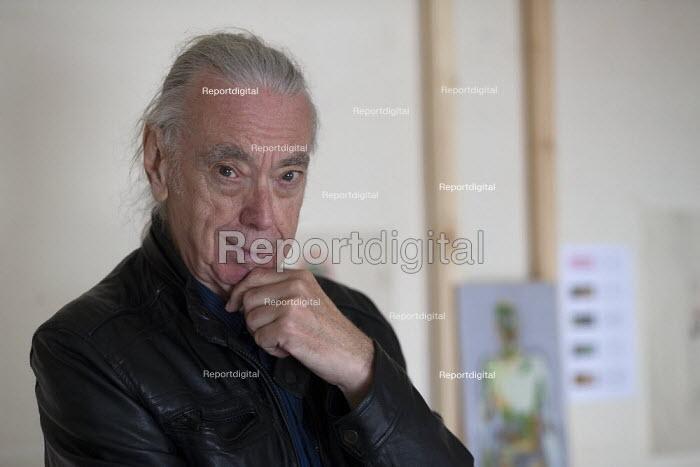 Artist Dave Hirons in his studio, Leamington Spa, 2020 - John Harris - 2020-08-25