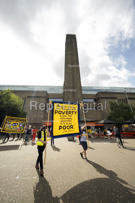 Day 24 of the Tate strike to Protect Art and Culture Jobs, We Won���t Pay for the Crisis protest from Tate Modern to Parliament Square, London - Jess Hurd - 2020-09-12