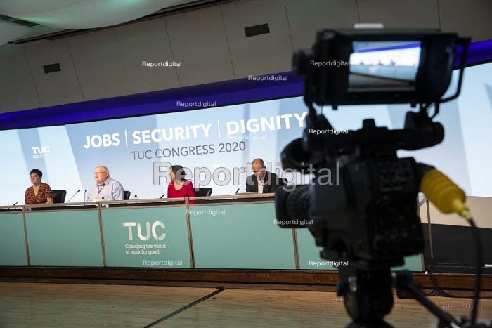 Ged Nichols Accord speaking TUC Congress 2020 online, Congress House, London. - Jess Hurd - 2020-09-14