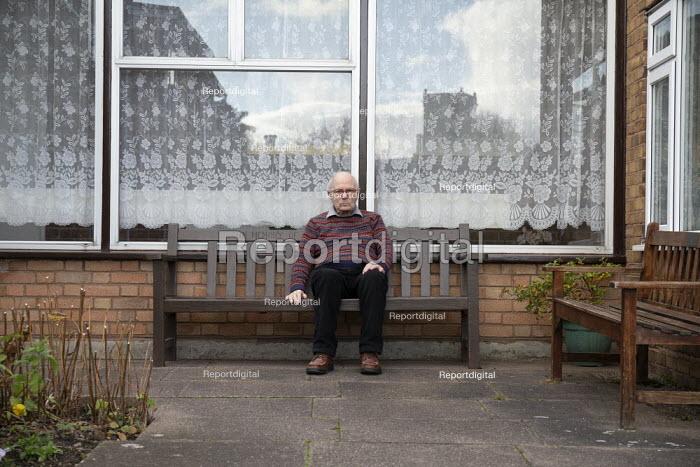 Elderly man, sheltered accommodation, Broseley, Telford, Shropshire - John Harris - 2020-11-03