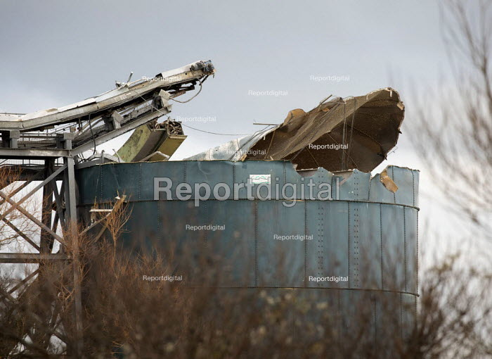 Avonmouth explosion killed four workers. Damaged silo, Wesse, Paul Box - PB2012143.JPG