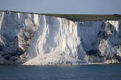 Coastal erosion of the white cliffs of Dover. The cliffs usually recede at a rate of 1cm per year - Paul Box - 13-04-2012