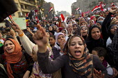 Cairo, Egypt. Women protest in large numbers after a series of sexual assaults on female journalists. Martyrs Day in Al-Tahrir (Liberation Square). Uprising against the military - Jess Hurd - 25-11-2011