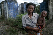 An Ogoni woman in one of the villages destroyed by the military, Lagos, Nigeria - Adrian Arbib - 18-05-2011