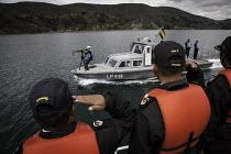 Bolivian seamen during exercises on Lake Titicaca, Bolivia. - Boris Heger - 09-02-2010