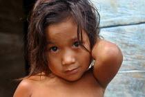 Colombian child refugee, Yape, Darien region, Panama, August 2004. This region is very remote. - Boris Heger - 25-08-2006