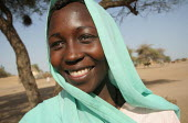 A young woman in the arab village of Malam, Darfur region, Sudan, May 2006. - Boris Heger - 31-05-2006