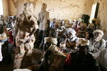 Rebel soldiers from the SLA-F branch at a meeting in Korma, Darfur region, Sudan, May 2006. - Boris Heger - 13-05-2006