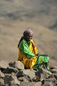 Elderly woman, near Abata, at the foot of the Djebel Mara mountain range, Darfur region, Sudan, May 2006. - Boris Heger - 17-05-2006