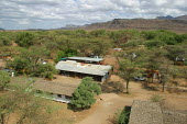 General view of the Red Cross Lopiding Hospital, Lokichokio, Northern Kenya, December 2003. The hospital was the main medical facility for people in South Sudan for years and treated thousands of war... - Boris Heger - 03-12-2003