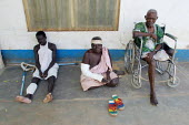 South Sudanese war wounded take a rest in the Red Cross Lopiding Hospital, Lokichokio, Northern Kenya, December 2003. The hospital was the main medical facility for people in South Sudan for years and... - Boris Heger - 03-12-2003