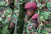 Countrys special forces policemen during a military exercise, Nairobi, Kenya, January 2004. - Boris Heger - 16-01-2004