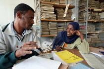 Teachers at the local school, Tadecha Gurach, Ethiopia June 2006. - Boris Heger - 27-06-2006