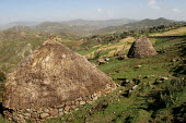General view with traditional huts, South Wollo region, Ethiopia, August 2005. - Boris Heger - 08-09-2006