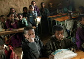 A classroom of 80 children in a village, South Wollo region, Ethiopia, August 2005. - Boris Heger - 08-09-2006