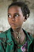 Pupil in a classroom for 80 children, in a remote village, South Wollo region, Ethiopia, August 2005. - Boris Heger - 08-09-2006