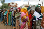 Muslim women wait for casting their vote outside of a polling station in the regional capital city of Jijiga, Ethiopia, on Sunday, August 21, 2005. 1.5 million electors are due to vote today in the re... - Boris Heger - 08-09-2006