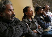 The four main leaders of the CUD (Coalition for Unity and Democracy), from left to right, Prof. Mesfin, Birtukan Midek, Berhanu Nega and Hailu Showel, listen to foreing journalists questions at the Cr... - Boris Heger - 27-11-2005