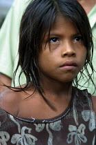 Embera girl, Embera indigenous village of Matugandi, Darien region, Panama, August 2004. This region is very remote. - Boris Heger - 25-08-2006