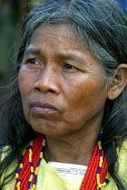 Embera woman, Embera indigenous village of Matugandi, Darien region, Panama, August 2004. This region is very remote. - Boris Heger - 25-08-2006
