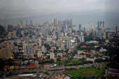 Aerial view of Panama city, Panama - Boris Heger - 2000s,2006,Aerial,americas,cities,city,cityscape,cityscapes,EBF,Economic,Economy,highway,Latin America,outdoors,outside,Panama,Panamanian,Panamanians,road,Road Transport,roads,skyline,skylines,urban