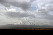 A view of the famous Mount Ararat, located just after the border with Turkey, Khor Virap, Armenia, February 2005. According to the Bible account in the book of Genesis, Noahs Ark came to rest over 430... - Boris Heger - 02-03-2005