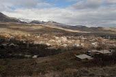 An Armenian village, just before to reach the famous Lachin corridor, the only way to reach the remote region of Nagorno Karabakh, Armenia, February 2005. The Lachin corridor and Nagorno Karabakh are... - Boris Heger - 05-03-2005