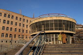 Local women and Soviet Architecture, central Erevan, Armenia - Boris Heger - 05-03-2005