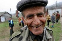 Old man smiling, Drakhtik, Nagorno Karabakh, Azerbaidjan, March 2005. - Boris Heger - 04-03-2005