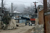 Street scene, Azokh, Nagorno Karabakh, Azerbaidjan, March 2005. The region, although officially located within Azerbaidjan, is being occupied by Armenia and has became a de facto Republic strongly lin... - Boris Heger - 04-03-2005