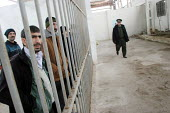 Cellmates and guard in a special institution for detainees having tuberculosis, Baku, Azerbaidjan, March 2005. This disease is widespread in jails of the Caucasus region. - Boris Heger - ,2000s,2005,Azerbaidjan,bar,bars,care,Caucasus,CLJ,Crime,detainee,detainees,disease,diseases,health,healthcare,imprisonment,incarcerated,incarceration,infected,infection,infections,Infectious Disease,