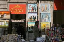 Street view with art dealers shop in the center of Baku, Azerbaidjan, March 2005. - Boris Heger - 16-03-2005