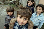 Abkhaz children in the street, Gagra, Georgia, March 2005. This region of Abkhazia, officially still part of Georgia, conducted a separatist war with Georgia for years at the fall of the USSR and beca... - Boris Heger - 09-03-2005