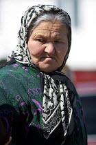 Chechen woman in a refugee center, Sleptovsk, Ingushetia March 2005. - Boris Heger - 22-03-2005