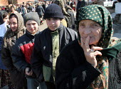 People queue up for obtaining new ID papers, Chali, Chechnya, March 2005. - Boris Heger - 22-03-2005