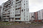 Buildings destroyed during the war, Grozny, Chechnya, March 2005. - Boris Heger - 23-03-2005